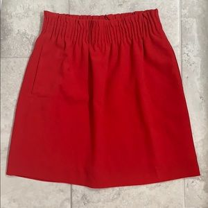 J.Crew Mercantile Red High Waist Skirt 00